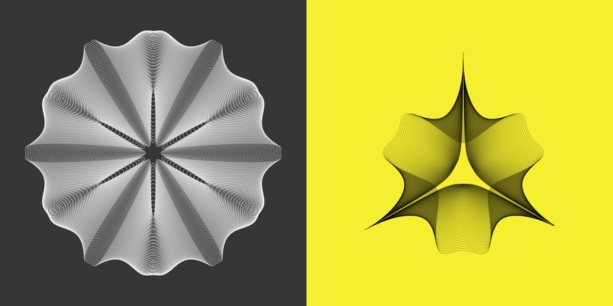 Super-shapes sample